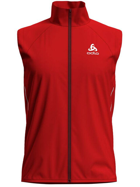 Odlo M's Zeroweight Windproof Warm Vest fiery red